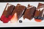 Dessert - flourless chocolate cake