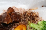 Stewed Beef Oxtail with Basmati Long Grain Steam Rice, Fresh Seasonal Vegetables and Fresh Fried Plantain $9.95