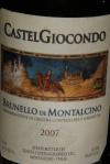 Castel Giocondo Brunello Di Montalcino DOCG 2007 14.5 alc. By vol. (Costco U.S. $38.00)