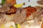 WILD DIGBY SEA SCALLOPS salt cod croquette, pancetta, cauliflower, shaved black truffle $34.00