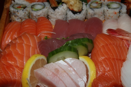 Love Boat $45.99 Sashimi 33 pieces; Sushi (Uni, Hamachi, Toro, Unagi, Salmon) 18 pieces; Roll 13 pieces