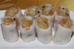 L # 46 Dough Fritter Rice Noodle Rolls with Green Onion   $2.90