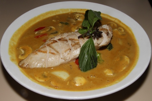 Golden Curry Chicken - chicken breast, vegetables, signature blend of yellow&massaman curries $13