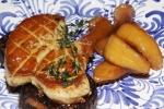 Seared foie gras, morcilla (blood sausage) and apple mostarda $32