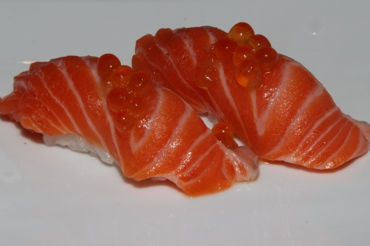 Sushi - ocean trout, salmon roe