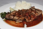 Foie de Veau à l'Ancienne - Provimi calf's liver, bacon, shallot/red wine demi-glace, mashed potatoes $17,00