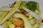 Romaine hearts, orange segments, hearts of palm, olives, avocado, manchego, sherry vinaigrette 12½