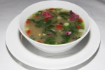 Yucatan Hot N' Sour Soup - chicken, coriander, chilies, Goji berries, lime $12.00