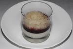 Hewitt's Dairy Vanilla Panna Cotta - blueberry compote, yuzu granite