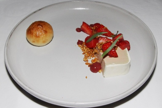 Foie Gras Parfait - strawberry, peanuts, milk bun