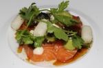 Atlantic Salmon Sashimi - avocado, sesame, rice cakes