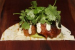 Mid-Course ($16) Pork belly and scallop taco pickled jalapeno, tortilla, avocado