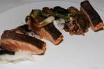 Salmon Belly - daikon, enoki mushrooms, spring onions
