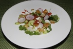 Fattoush and Goat Cheese Salad