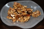 Puffed grain granola for The Bar at Alo