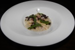 B. C. Dungeness Crab - carolina gold rice, sea spinach, lime segments, juice and zest English pea shoots