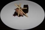 Whipped milk chocolate ganache - stout cake, malted meringue, milk jam