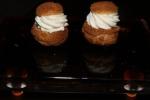 Pâté choux with caramel and vanilla chantilly cream $3 per piece