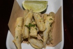 Pescado Frito - fried Ontario smelts dressed in cumin, cilantro, salt and pepper, and served with fresh lime