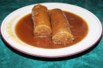 Kishke (stuffed derma - 2 pieces with bread) $8.95