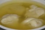 Bowl of Chicken Soup with Kreplach (4) $6.95