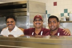 "Some of the ""proud to be cooking for you"" kitchen staff"