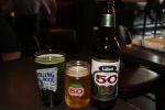 Rolling Rock Premium Extra Pale Lager draught and Labatt 50 Ale 5.0% ABV (710 ml.)