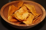 Snacks - Mesqulte tortilla chips and guacamole, smoked oyster sauce