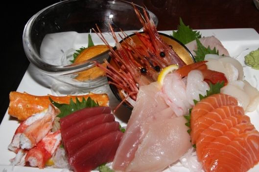 House special sashimi platter - a large variety of fresh seafood (serves 2 to 3) $55.00