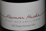 2012 Pinot Noir unfiltered I Norman Hardie Niagara Peninsula VQA