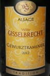 Willy Gisselbrecht Gewürztraminer 2012 Tradition Alsace 13% Alc./Vol.