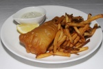 Fish N' Chips English-style - beer battered halibut, tartar sauce, malt vinegar $25