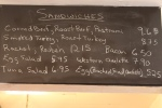 The blackboard menu