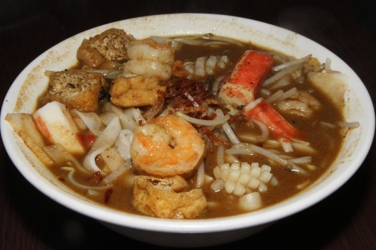 Curry Laksa Soup Noodles with Seafood $8.50