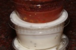 Red Sauce (spicy) and white sauce