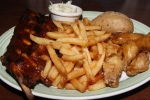 Wings and Ribs - half rack ribs and 5 wings side $18.99 back $19.99 served with creamy coleslaw signature chalet dipping sauce multigrain roll choice of side (fresh-cut fries peeled and hand-cut in house daily)