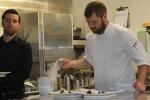 Justin preparing nitrogen cold dessert