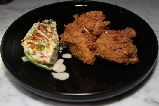 fried chicken - wedge salad, buttermilk, bacon, tabasco $16