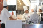 Student chefs and teachers [Oliver Li, Chef de Cuisine/Chef Adrian Rusyn, Chef Technologist]