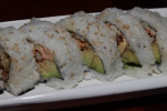 28. Spider Roll - Deep fried soft shell crab wrapped together with avocado, cucumber and tobiko $18.00