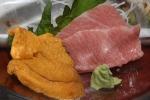 A la carte Uni (sea Urchin) and Toro (Blue Fin fatty tuna)