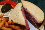 The Centre Street Special lean old fashioned deli sandwich on double rye, fries, cole slaw, and a dill $16.45