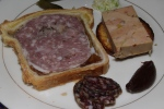 Pâté en croute, foie gras terrine, and truffled saucisson sec
