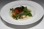 "Fogo Island cod ""a la plancha"" - Anson Mills white grits, caper beurre noisette $35"