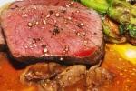 Québec boileau venison - chili rojo mushrooms, Kabocha squash, Brussels sprouts, jackfruit, hazelnuts $39