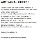 2015 09 25 The Dessert Menu/The Cheese Menu