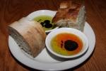 House breads, olive oil, balsamic vinegar, chili oil