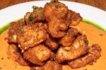 Buttermilk Fried Calamari – red pepper almond romesco sauce, Libretto herb oil $12.00