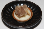 white chocolate and Jerusalem artichoke tart