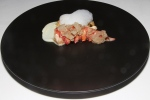 butter poached Nova Scotia lobster - cauliflower purée, apple, toasted almonds
